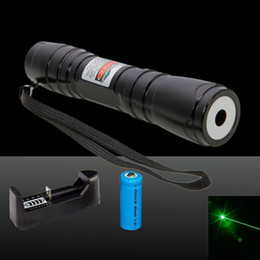 Wholesale Laser Pointers Charger - 619 Green Laser Pointer High Power Mini Astronomical Laser Pen Powerful Industrial Lazer Pointer Pen + Charger + Battery + Box