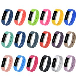 Wholesale Color Transparent Watch - 100% High Quality 2016 New Replacement Wrist Band silicone Strap Clasp For Fitbit Alta Smart Watch Bracelet 18 Color