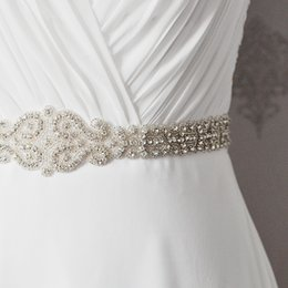 Apparel Accessories Search For Flights Jlzxsy Handmade Womens Rhinestones Wedding Evening Party Gown Dresses Accessories Bridal Belts Sashes Silver+ivory Ribbon