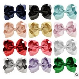 Wholesale Colorful Hair Claws - Girls princess hair accessories kids Bowknot hairbands children Polyester head band colorful Barrettes kids Hair Claws girls gifts G1461