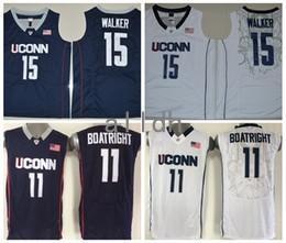 Wholesale Uconn Basketball - 2017 Kemba Walker Uconn Huskies College Basketball Jerseys 15 Kemba Walker 11 Ryan Boatright Shirts Stitched University Basketball Jersey