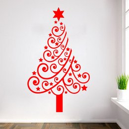 Wholesale Shopping Products - Shop Window Wall Stickers for Decorative Christmas Tree Xmas Home Decoration Window Display Removable Wallpaper Product Code:90-2021
