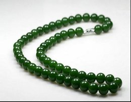Wholesale Green Jade Circle Pendant - Women's necklace Customized Wide Mens Chain Necklace Curb Cuban Link Silver Tone Stainless Female necklace joker