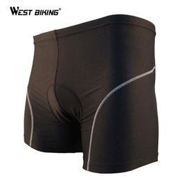 Wholesale Padded Cycling Briefs - Top Spandex Sweat Quick Dry Gel Silicone Cushion Riding Shorts Bicycle Bike Breathable 3D Pad Briefs Men Black Cycling Underwear