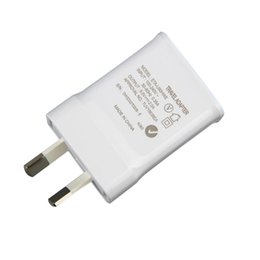 Wholesale Iphone Genuine Adapter - Genuine Quality Travel Charger For Samsung Galaxy Note3 N900 S5 w AU Plug 5.3V 2A Home Wall Adapter 200Pcs Lot DHL Free Shipping