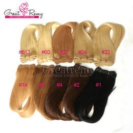 Extensiones coloreadas del pelo humano 3pcs / lot más colores # 1 # 2 # 4 # 8 # 14 # 22 # 24 # 27 # 60 # 613 armadura brasileña del pelo de la trama del pelo más suave de calidad superior desde fabricantes