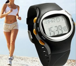 Wholesale Stop Counter - Wholesale-Pulse Heart Rate Monitor Calories Calculator Counter Gym Watch Fitness Stopwatch Monitor Stop Watch Clock Timer free shipping