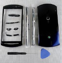 sony xperia z1 pièces Promotion Nouveau châssis complet de boîtier de châssis avant + couvercle de la batterie arrière + clavier pour Sony Xperia Neo V MT11 MT11i