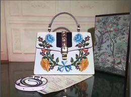 Wholesale Tote Bags Metal Handles - Women PU Leather Top Quality Ladies handle bag Totes Double G Antique gold metal Cross body bag Messenger bag