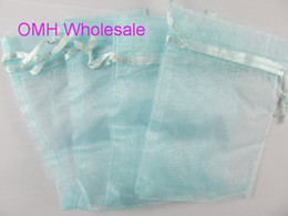 Wholesale Organza Gift Bags Green Dark - OMH wholesale 50pcs Dark blue pink green 17x23cm nice chinese voile Christmas Wedding gift bag Organza Bags Jewlery Gift Pouch BZ11-2