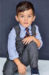 Wholesale Cool Boy Vest - hot sale new Fashion baby boys clothes vest+ shirt + tie + pants 4 pcs sets children's cool clothing handsome male kids clothes suits