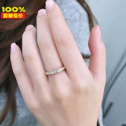 Wholesale Simple Single Rings - Korean version of the personality small jewelry factory wholesale fashion simple models of single row of small diamond ring tail ring person