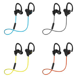Wholesale Wireless Waterproof Headphones For Iphone - new Bluetooth Earphones Stereo Bass 56s Headset Sport Earpieces Ear Waterproof Headphones Hook Earbuds With Mic for nate8 iphone x 8 7