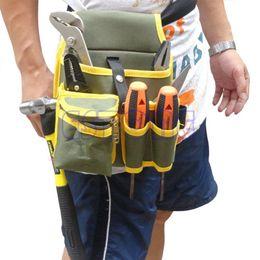 2019 сумки для холста Wholesale- Portable Mechanic Canvas Tool Waist Bag Belt Utility Kit Pocket Pouch Organizer-Y103 дешево сумки для холста