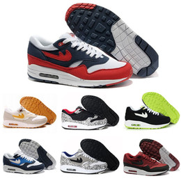 Wholesale Masters Media - Wholesale AIR 1 PREMIUM SC JEWEL Shoes White Black 918354-103 White Red 918354-104 Atmos What The 910772-001 Master of Air 87 Size40-46