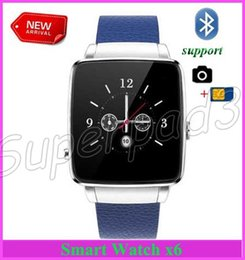 Wholesale Free Picture Camera - 30pcs Free Shipping Newest Fashion Business Smart Watch Bluetooth Remote Picture Watch Phone X6 For Android iOS With Camera Pedometer Time