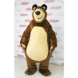 Wholesale Animal Cartoon Mascot - High Quality Masha Bear Ursa Grizzly Mascot Costumes Animal Masha Bear adult Cartoon Mascot Character Free Shipping