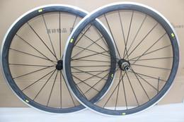 Wholesale 38mm Carbon Clincher Rims - powerway R36 ceramic hubs Carbon road bike wheels clincher alloy brake surface Carbon alloy Wheels 38mm Rims carbon aluminum wheelset 38mm