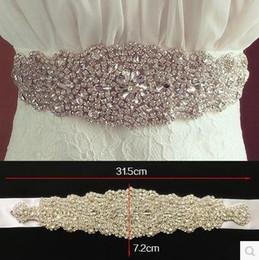 Wholesale Women Belts Elastic - 2016 David S1067 Bridal Waistband Heavily Encrusted luxurious Rhinestone Bridal Wedding Dresses Sash Wedding accessories Belts