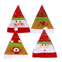 Wholesale Outdoor Christmas Displays - 6Pieces  Lot Hats Merry Christmas Festival Party Hat Cap Decoration Gift Santa Caps Family Market Display Window Scene Drop Supplies