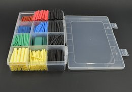 Wholesale Heat Shrink Electrical - 530pcs 2:1 Heat Shrink Tubing Sleeving Adhesive Electrical Insulation Cable Wire Wrap Kit free shipping