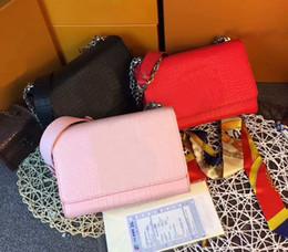 Wholesale Twist Handbag - Brand Womens Handbags Totes Messenger Cross Body Bags AAA+ Real TWIST Leather handbags Silver chain Shoulder bags CX#106 Wallets 50273