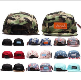 Wholesale Novelty Animal Gifts - Diamond 5 panel Snapback Hat men women ball cap strapback hip hop visor hats adjustable 42 styles Christmas party gift