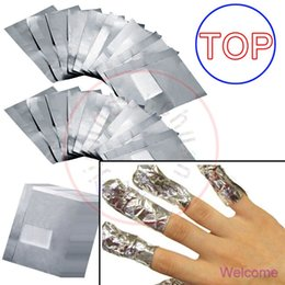 Wholesale Acrylic Foils - TOP! New Nail Art Soak Off Gel Polish Acrylic Removal Shellac Foil Wraps Remover - NO ACETONE