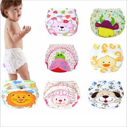 Wholesale Newborn Baby Diaper Underwear - Baby Changing Pads Cartoon Bread Pants Newborn Training Pants Infant Learning Pant Diaper Pants Cover Toddler Panties Slacks Underwear B3290