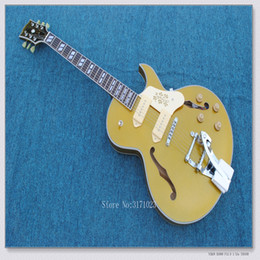 Wholesale Electric Hollowbody Guitars - Newest arrival ES-295 Hollowbody Guitar Goldtop Electric Guitar WithBigsby