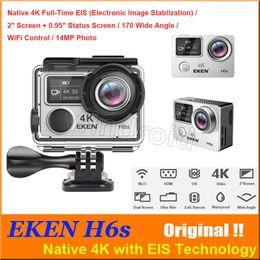 Wholesale Sports Wide Angle Camera - Original EKEN H6S Native 4K Full-Time EIS Ultra HD Action Sports Camera WIFI HDMI Dual screen 170 Wide Angle remote control waterproof DV