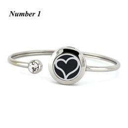 Wholesale Heart Locket Design - New heart shape design 20mm Stainless Steel Perfume Locket Bangles Aromatherapy Essential Oil Diffuser Locket Bracelet For Women