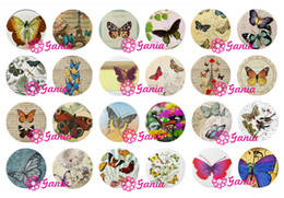 Wholesale Earring Butterfly Clasp - New Arrival 18mm Cabochon Glass Stone Buttons Cabochon Insect Butterfly Snap Buttons for Noosa Snap Bracelet Necklace Ring Earrings