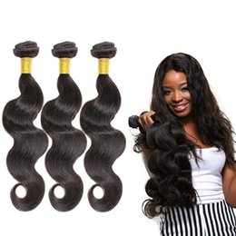 Wholesale Silky Indian Body Wave - Fashion Leader European Hair Extensionsn Body Wave Weft 8-30 Inch Women Hair Extensions Natural End No Tangle Silky Body Wave Hair Weaves