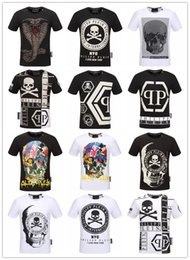 Wholesale High Fashion Brand T Shirt - Summer Men'S Fashion Brand PP Short Sleeve T Shirt Men Casual Solid Color High Quality Skulls Sports Camisetas T-Shirt #333333333