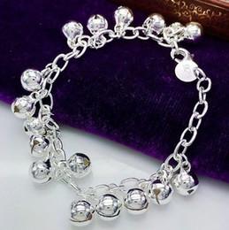 schöne silberne armbänder für mädchen Rabatt Qualitätsschönes heißes 925 silberner Modeschmuckcharme Liebesherzmädchen 5 kettenarmband YBN008
