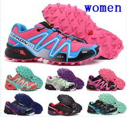 Wholesale Size 41 Women Shoes - Wholesale 2017 New Zapatillas Speedcross 3 Running Shoes men women Walking Outdoor Sport shoes Athletic Shoes Size US 36-41 Free Shipping