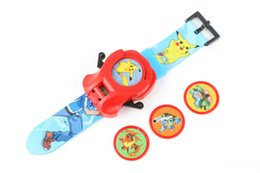 Wholesale Wholesale Toy Pocket Watches - Hot Sale 28.5X14CM Poke Pocket Monsters Pikachu Watch the emitter Frisbee PVC Action figure For Boy Best Toy 039