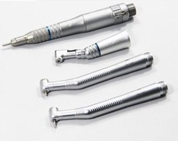 Wholesale Nsk Dental Low High Speed - NSK Dental Handpiece Kit 2*NSK PANA Air Style High Speed Wrench Type Handpiece + Low Speed Latch Handpiece Kit 2 Hole