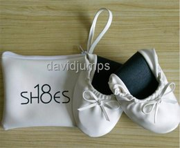 Wholesale Roll Up Shoes - Promotional Cheap Girl Foldable Ballerina Shoes Roll Up Gifts Shoes for Party Wedding Shoes OEM Customized