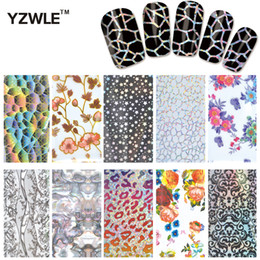 Wholesale Beauty Craft - Wholesale-YZWLE 10 Designs 1 Pack DIY Nail Art Transfer Foil Decal Beauty Craft Decorations Accessories For Manicure Salon #XKT-N21