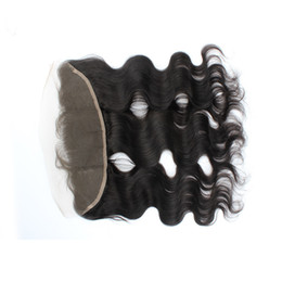 Wholesale Cheap Hair Lace Closure Piece - Body Wave Human Hair Lace Frontal Closure Unprocessed Virgin Free Middle Three Part Brazilian Lace Closure Top Piece Cheap