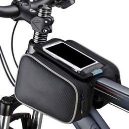 Wholesale Top Tube Bag Phone - Bicycle Front Tube Bag Bike Head Frame Waterproof Bags Top Tube For 5 5.5 inch Cell Phone Holding Pouch Double Side Bikes Cycling Pocket
