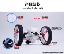 Wholesale Robot Motors - Mini Bounce Car PEG SJ88 RC Cars 4CH 2.4GHz Strong Jumping Sumo RC Car with Flexible Wheels Remote Control Robot Car for Gifts