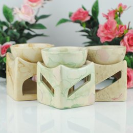 Wholesale Large Candles Wholesale - Wholesale- 2017 New Ceramic Oil Burner 3 Colors with Candle Holder Large Capacity Aromatherapy Oil Furnace Without Candle Free Shipping