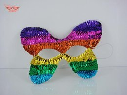 Wholesale Large Masquerade Props - Large European and American original single sequined mask masquerade party props Birthday Annual Day gift