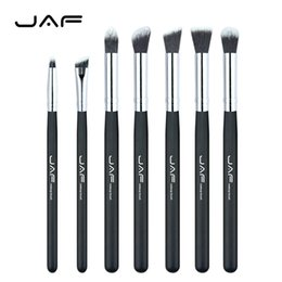 Wholesale eye shading brush - 7 pcs set Professional Portable Makeup Brushes of Eye Blending Eyeshadow Smudge Shading Brushes JE07SSY-B