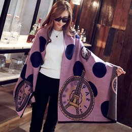 Wholesale Eiffel Tower Shawl - 2017 women autumn winter fashion brand designer wool cashmere shawl scarves designer pashmina Paris Eiffel Tower scarf