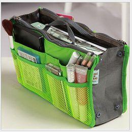 Wholesale Sky Blue Mp3 - 14 color Women Storage Cosmetic Bag Makeup Bag Purse MP3 Mp4 Phone Organizer lady bag in bag Sundry Bags Zipper Tidy Bag 30 *18.5 *8.5CM