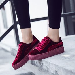 Wholesale Womens Corduroy Dresses - Wholesale- New Spring Womens Ladies Nude Corduroy Casual Flats Round Toe Flat Platform Heel Lace Up Oxford Comfortable Creeper Shoes